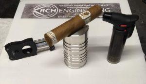 Cigar holder with cigar