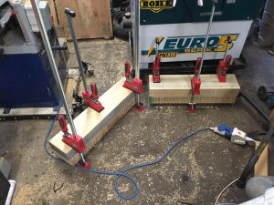 Tulip wood for mangle - gluing together
