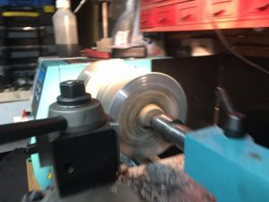 Turning the pedestals on the metal lathe
