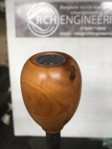Yew japanese coin gear knob